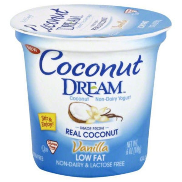 Coconut Dream Yogurt, Coconut Non-Dairy, Low Fat, Vanilla