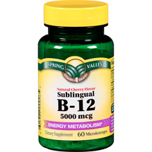 Spring Valley Sublingual B-12 Dietary Supplement Microlozenges
