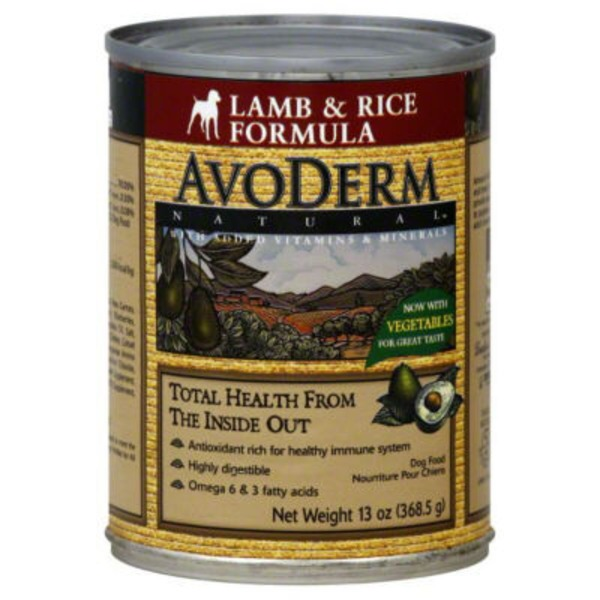 AvoDerm Natural Lamb & Rice Dog Food
