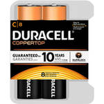 Duracell Coppertop Alkaline Batteries C 8 Batteries/Pack