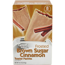 Great Value Frosted Brown Sugar Cinnamon Toaster Pastries 8 Ct/14.6 Oz