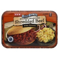 H-E-B Fully Cooked Smoked Seasoned Shredded Beef With Bbq Sauce