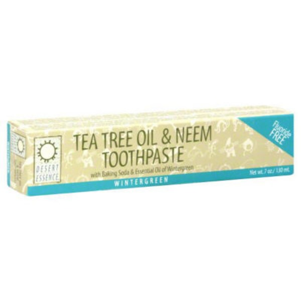 Desert Essence Natural Tea Tree Oil & Neem Toothpaste Wintergreen