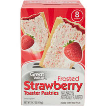 Great Value Frosted Strawberry Toaster Pastries 8 Ct/14.6 Oz