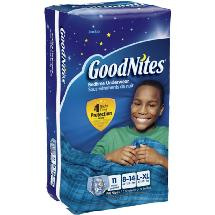 GoodNites Boys' Bedtime Underwear Jumbo Pack L/XL