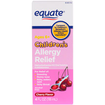 Equate Cherry flavor Children's Allergy Relief Antihistamine