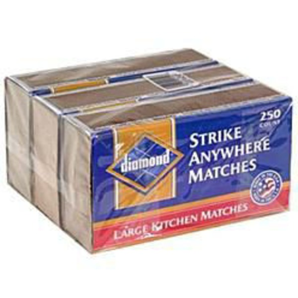 Diamond G Matches, Strike On Box, Large Kitchen