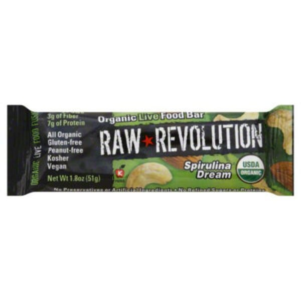 Raw Revolution Organic Live Food Bar Spirulina Dream