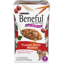 Purina Beneful Tuscan Style Medley Dog Food 3-3 oz. Cans