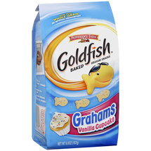 Pepperidge Farm Goldfish Grahams Vanilla Cupcake Baked Graham Snacks