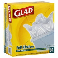 Glad Tall Kitchen 13 GAL Quick-Tie Bags - 80 CT