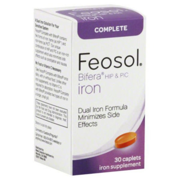 Feosol Iron, Complete, HIP & PIC, Caplets