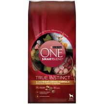 Purina One SmartBlend True Instinct with Real Turkey and Venison Premium Adult Dog Food