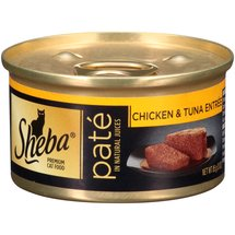 Sheba Premium Pate Cat Food Chicken and Tuna Entree