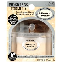 Physicians Formula Mineral Wear Loose Translucent Light 2449 Powder .49 Oz