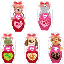 Valentine Stuffed Animal & Candy Gift Set