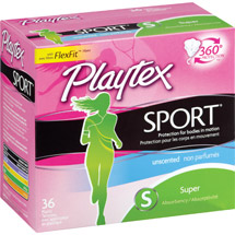 Playtex Femcare Sport Unscented Super Tampons