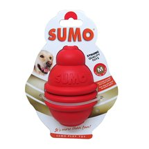 Medium Red Rubber Sumo Dog Toy