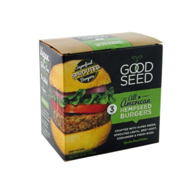 Good Seed Original Hemp Burgers