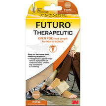 FUTURO Open Toe Knee Length for Men and Women Medium Beige