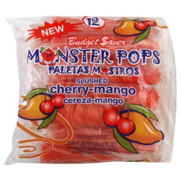 Budget Saver Monster Pops Slushed Cherry-Mango