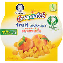 Gerber Graduates Fruit Pick-Ups Yellow Cling Diced Peaches