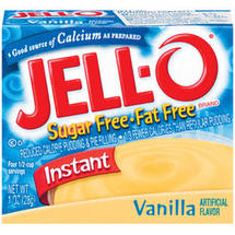Jell-O Sugar Free & Fat Free Vanilla Instant Pudding & Pie Filling