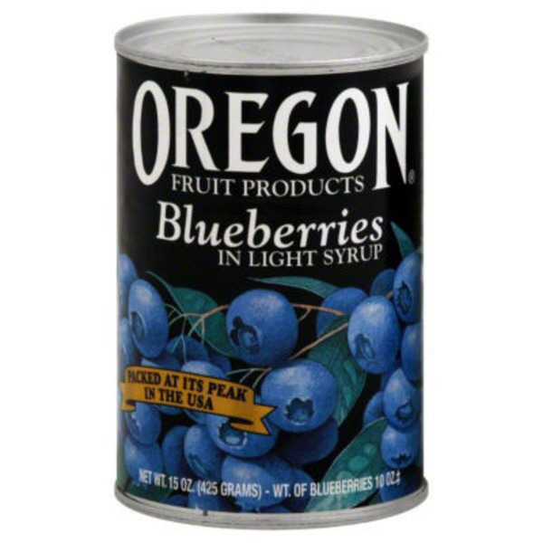 Oregon Fruit Products in Light Syrup Blueberries