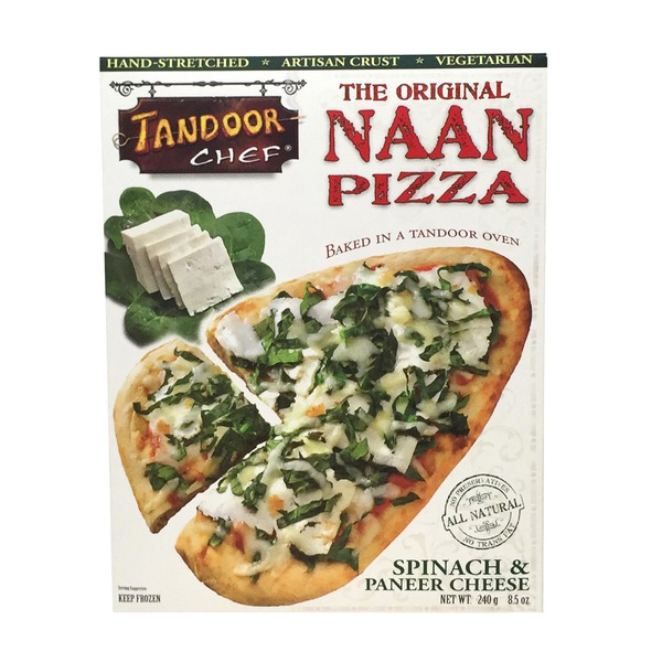 Tandoor Chef Pizza, Naan, Artisan Crust, Spinach & Paneer Cheese