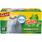 Glad OdorShield Gain Original Scent Tall Kitchen Drawstring Trash Bags