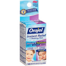 Baby Orajel Daytime & Nighttime Formulas For Teething Oral Pain Reliever Tubes