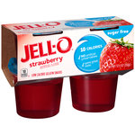 Jell-O Sugar Free Strawberry Low Calorie Gelatin Snacks