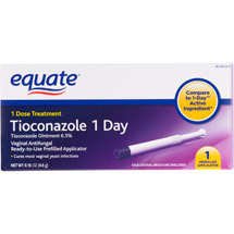 Equate Tioconazole Vaginal Antifungal 1 Day Treatment