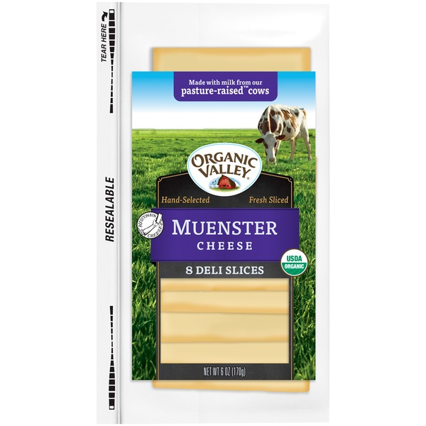 Organic Valley Muenster Slices Cheese