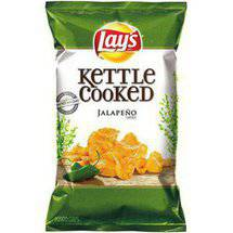 Lays Kettle Cooked Jalapeno Extra Crunchy Potato Chips