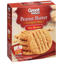 Great Value Peanut Butter Cookie Mix