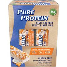Pure Protein Tropical Fruit Macadamia Nut High Protein Fruit & Nut Bars