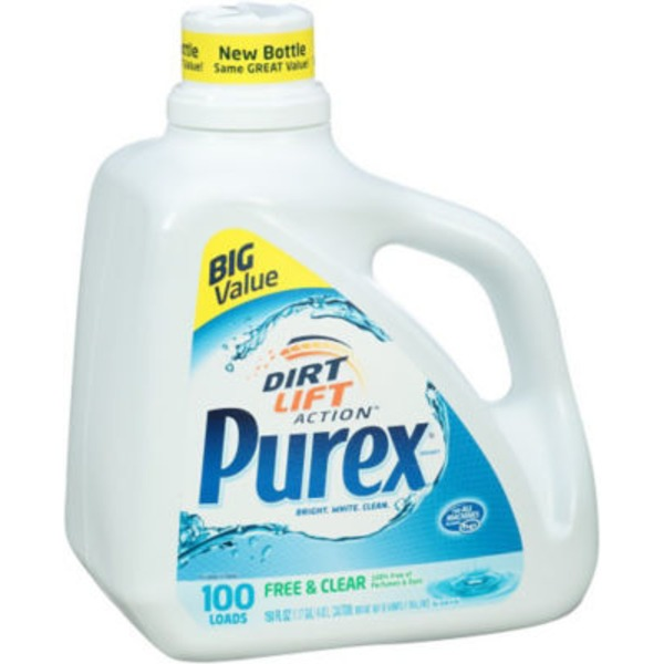 Purex Liquid Detergents Dirt Lift Action Free & Clear Laundry Detergent