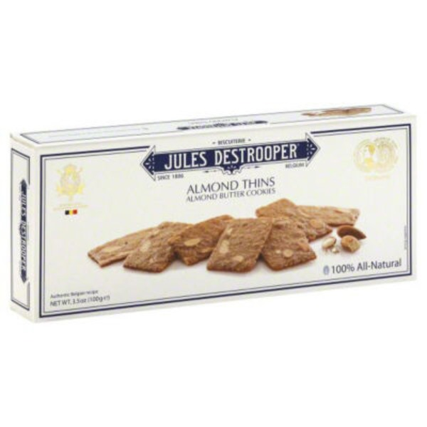 Jules Destrooper Almond Thins Almond Butter Cookies