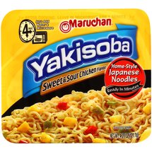 Maruchan Yakisoba Sweet & Sour Chicken Flavor Home-Style Japanese Noodles
