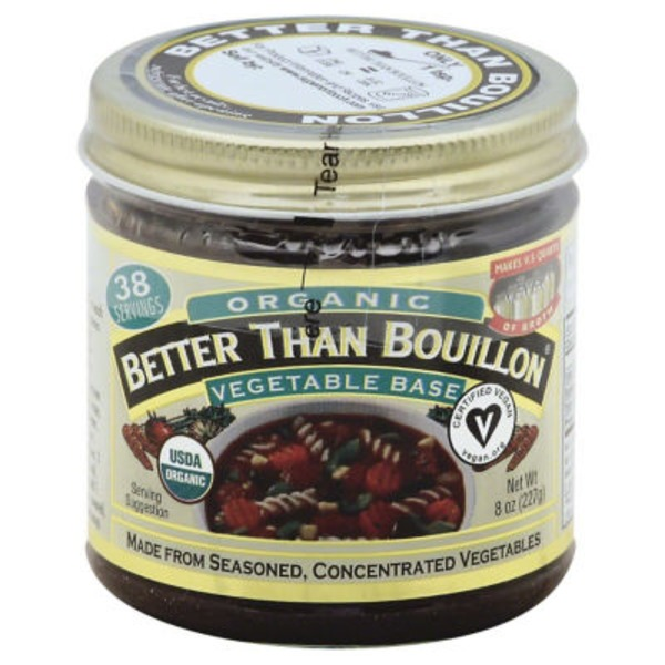 Better Than Bouillon Vegetable Base, Organic