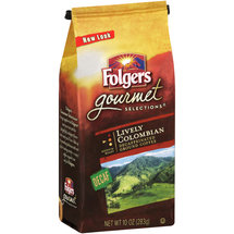Folgers Gourmet Selections Lively Colombian Decaffeinated Ground Coffee