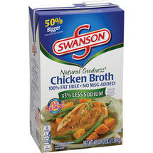 Swanson Natural Goodness 100% Fat Free All Natural Chicken Broth RTSB