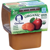 Gerber 2nd Foods Baby Foods Baby Food Organic Apple Sweet Potato 3.5 Oz