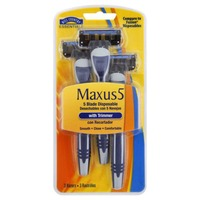 Hill Country Fare Maxus5 Five Blade Disposable Razor With Trimmer