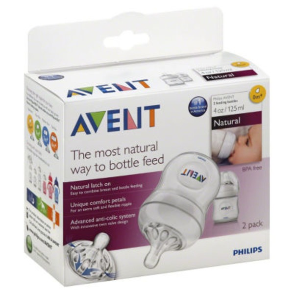 Avent Feeding Bottles Natural 0 M+ 4 oz