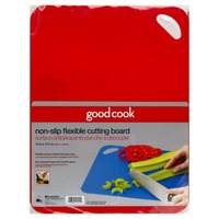 Good Cook Pro Cutting Board, Red, Flexible, Non-Slip, Wrapper