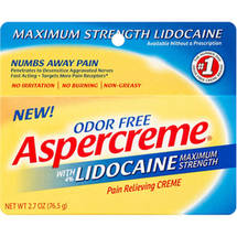 Aspercreme Maximum Strength with 4% Lidocaine Pain Relieving Creme