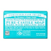 Dr. Bronner's All-One Baby Unscented Pure-Castile Bar Soap
