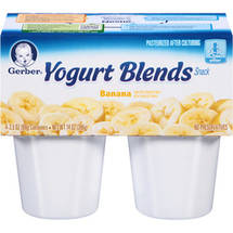 Gerber Yogurt & Fruit Blends Yogurt & Fruit Blends Banana 14 Oz (4-3.5 Oz) Yogurt